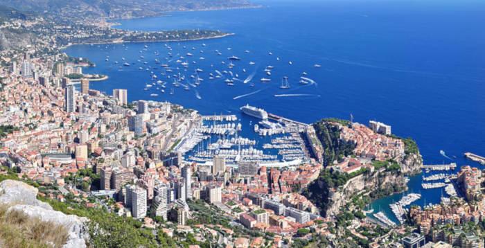 Vue panormaique de la principauté de Monaco